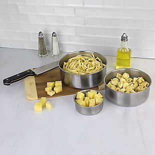 Home Accents Brushed Stainless Steel Food Storage Container Set, (Set of 5), Silver, , rollover