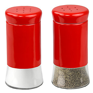 Home Accents Essence Collection 2 Piece Salt and Pepper Set, Red, large