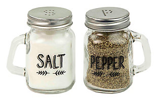 Home Accents Salt and Pepper Mason Jar Set, , large