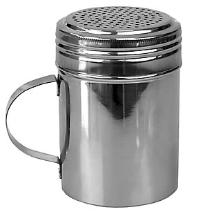 Home Accents 10 oz.  Stainless Steel Dredge Condiment and Spice Shaker with Easy Grip Handle, Silver, , large