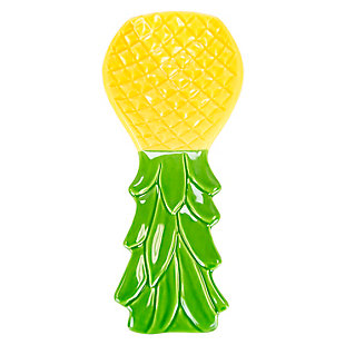 Home Accents Tropical Pineapple Ceramic Spoon Rest, , large
