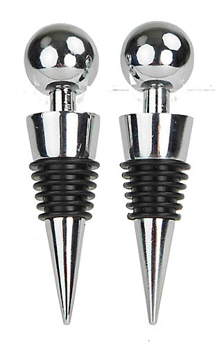 Home Accents Stainless Steel Stay Fresh Wine and Beverage Bottle Stoppers, , large