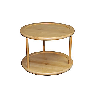 Home Basics 2 Tier Bamboo Lazy Susan, , large