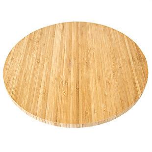 """Home Basics 13.5"""" Bamboo Lazy Susan, Natural, , large"""