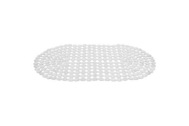 Home Basics Diamond Plastic Bath Mat, Clear, , large
