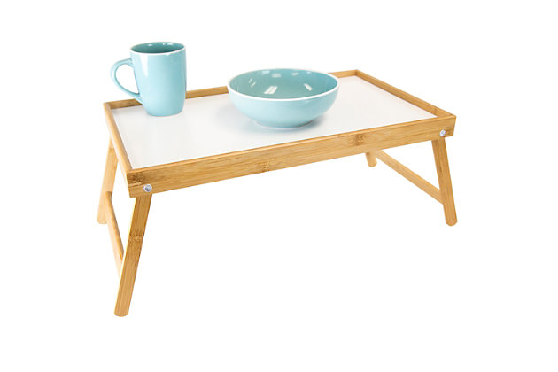 Home Basics Bed Tray with White Surface, , large