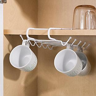 Home Basics Under-the-Shelf Mug Rack, , large