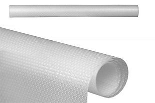"""Home Basics 18"""" x 60"""" Dotted Rubber Shelf Liner, Clear, , rollover"""
