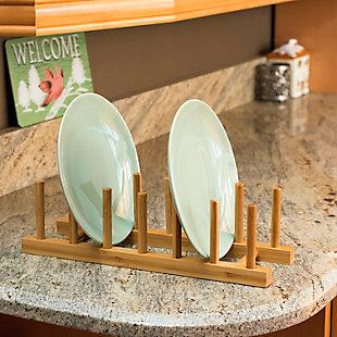 Home Basics Bamboo Dish Rack, , rollover