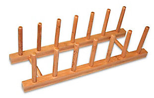 Home Basics Bamboo Dish Rack, , large
