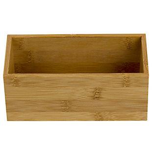 "Home Basics 3"" x 6"" Bamboo Organizer, Natural, , large"