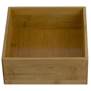 "Home Basics 6"" x 6"" Bamboo Drawer Organizer, Natural, , large"