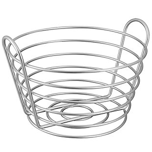 Home Basics Simplicity Collection Satin Nickel Collection Fruit Basket, , large