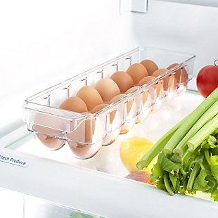 Home Basics 14 Egg Plastic Holder with Lid, Plastic, , rollover