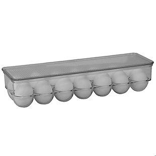 Home Basics 14 Egg Plastic Holder with Lid, Plastic, , large