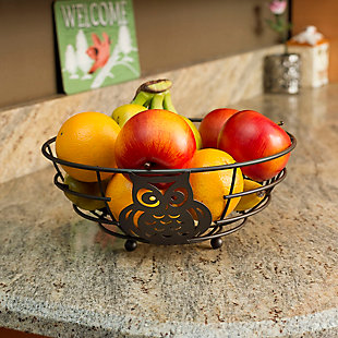 Home Basics Owl Fruit Bowl, , rollover
