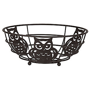 Home Basics Owl Fruit Bowl, , large