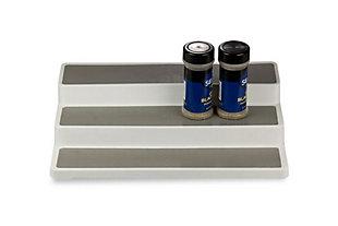 Home Basics 3-Tier Plastic Shelf Organizer, , large
