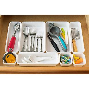 Home Basics 8 Piece Multi Drawer Organizer Set, , rollover