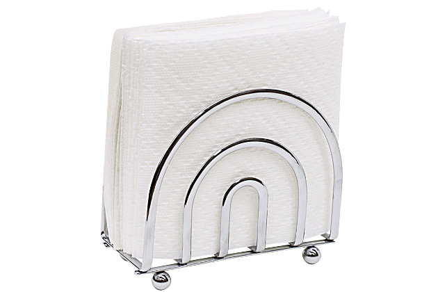 Home Basics Flat Wire Collection Napkin Holder, , large
