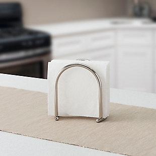Home Basics Simplicity Collection Napkin Holder, Satin Nickel, , rollover