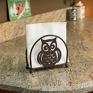 Home Basics Owl Napkin Holder, Bronze, , rollover