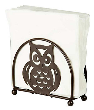 Home Basics Owl Napkin Holder, Bronze, , large