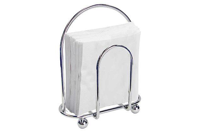 Home Basics Chrome Napkin Holder, , large