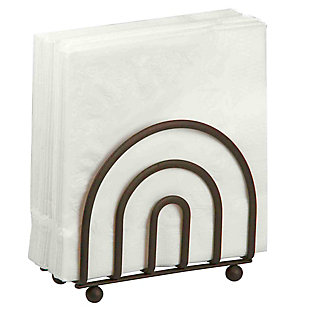 Home Basics Wire Collection Napkin Holder, Bronze, , large