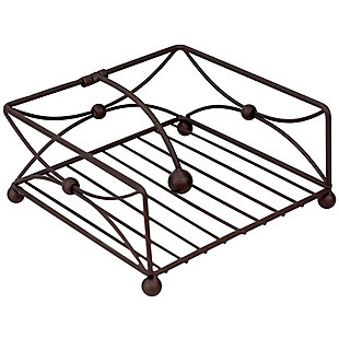 Home Basics Arbor Collection Flat Napkin Holder with Weighted Pivoting Arm, Oil Rubbed Bronze, , large