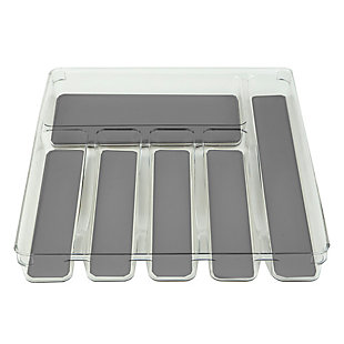 """Home Basics 12"""" x 15"""" Plastic Drawer Organizer with Rubber Liner, , large"""