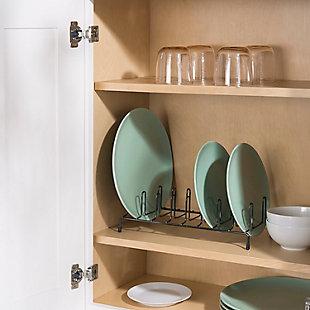 Home Basics Black Onyx Plate Rack, , rollover