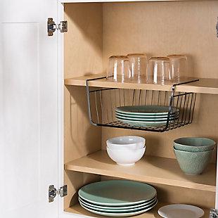 Home Basics Small Under the Shelf Basket, Black Onyx, , rollover