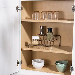 Home Basics 3 Tier Steel Seasoning Rack, Black Onyx, , rollover