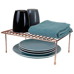Home Basics Small Copper Coated Steel Helper Shelf, , large