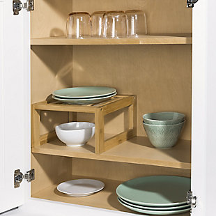 "Home Basics 9"" x 9""  Bamboo Helper Shelf, Natural, , rollover"