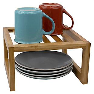 "Home Basics 9"" x 9""  Bamboo Helper Shelf, Natural, , large"