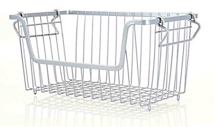 Home Basics Small Powder Coated Steel Wire Storage Basket, Gray, , large