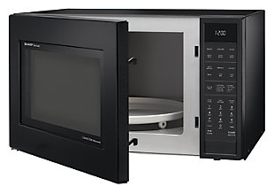 Sharp 1.5-Cu. Ft. 900W Convection Microwave Oven, Black, rollover