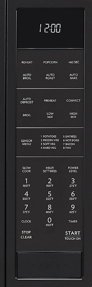 Sharp 1.5-Cu. Ft. 900W Convection Microwave Oven, Black, large