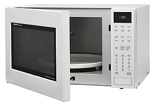 Sharp 1.5-Cu. Ft. 900W Convection Microwave Oven, White, rollover