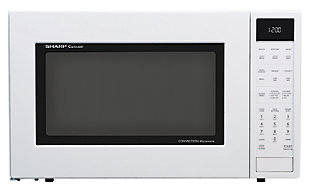 Sharp 1.5-Cu. Ft. 900W Convection Microwave Oven, White, large