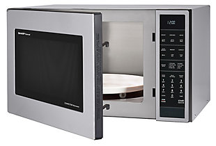 Sharp 1.5-Cu. Ft. 900W Convection Microwave Oven, Stainless Steel, , rollover