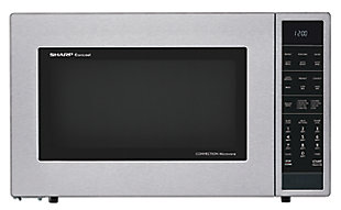 Sharp 1.5-Cu. Ft. 900W Convection Microwave Oven, Stainless Steel, , large