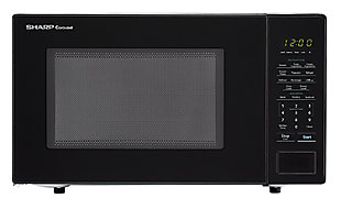 Sharp Carousel 1.1-Cu. Ft. 1000W Countertop Microwave Oven in Black, , large