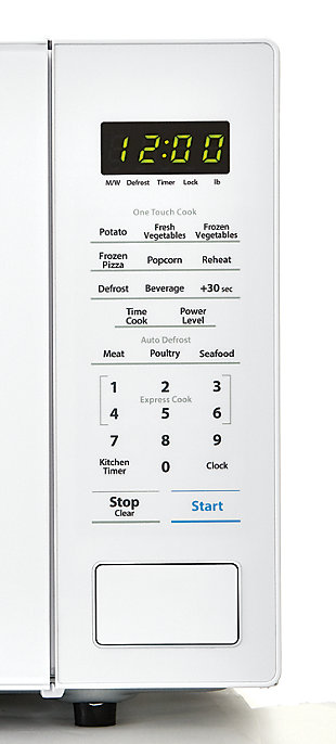 Sharp 1.1-Cu. Ft. 1000W Countertop Microwave Oven, White, large