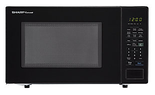 Sharp Carousel 1.4-Cu. Ft. 1000W Countertop Microwave Oven in Black, , large