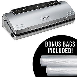 Caso Design Food Vacuum Sealer and Set of 2 Food Vacuum Rolls, , large