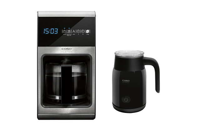 Caso Design 10-Cup Coffee Maker and Fomini Milk-Frother, , large