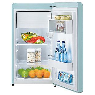 Kenmore 4.4-Cu. Ft. Retro 1-Door Compact Refrigerator, Green, rollover